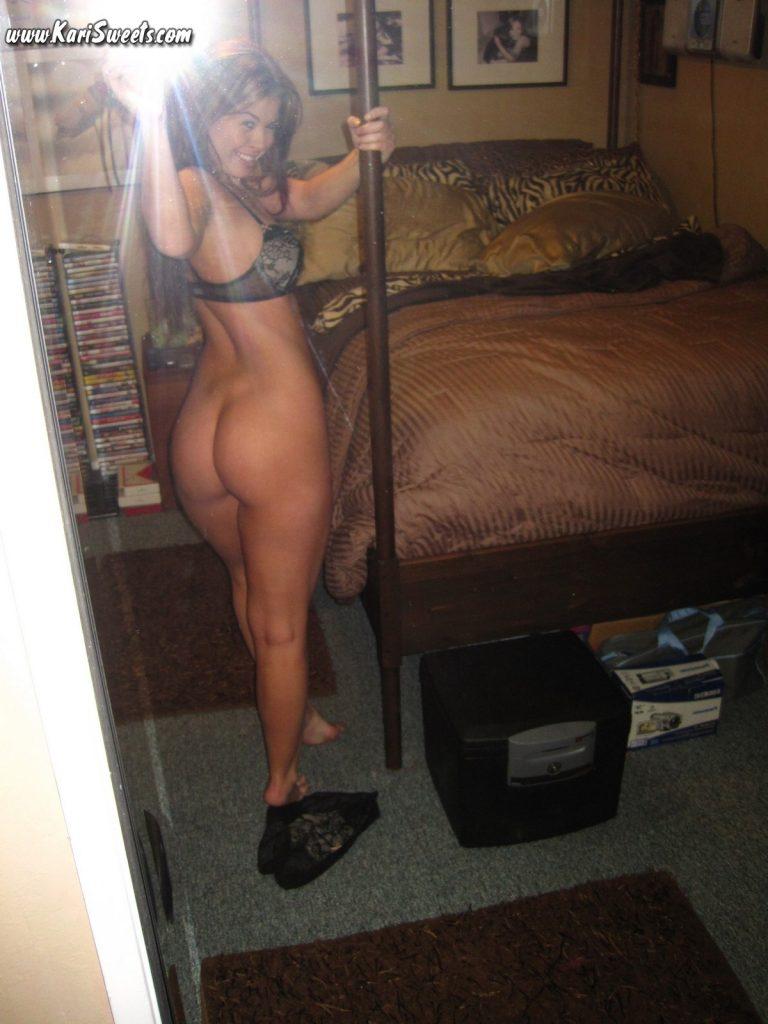 Girl pulls down her panties